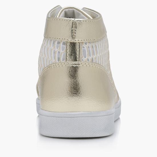 حذاء برقبة عالية برباط