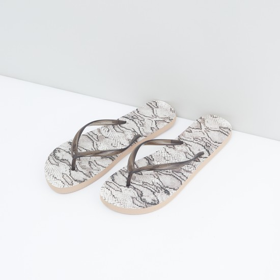Animal Print Slippers with Slip-On Closure