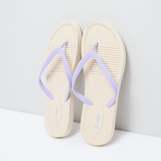 Flip Flops with Textured Footbed