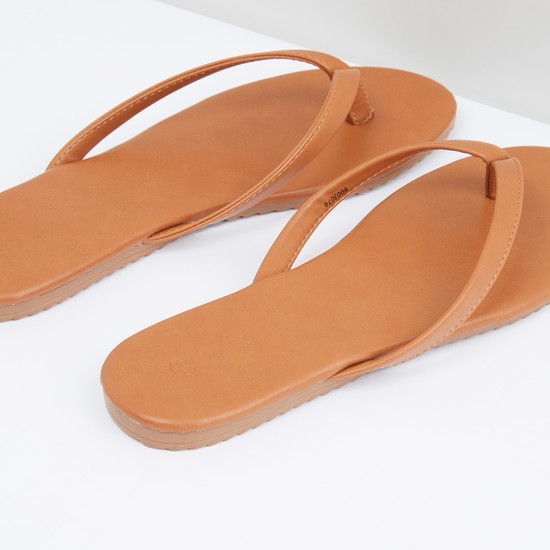 Stitch Detail Flat Slip-On Sandal