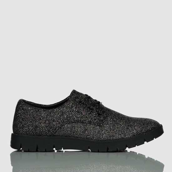 Textured Lace-Up Shoes