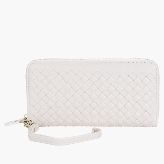 Criss-Cross Wallet with Zipper Closure