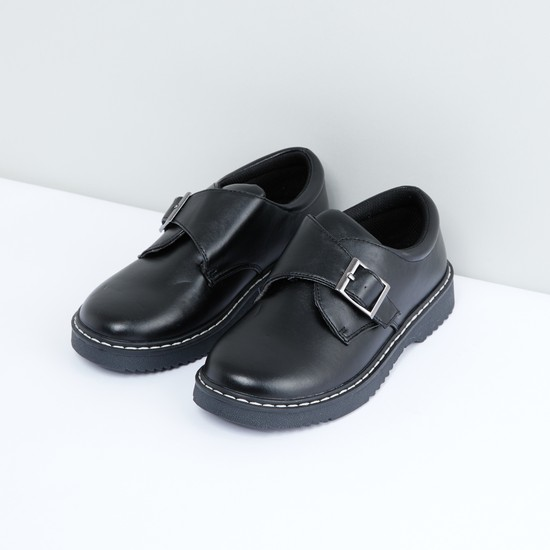 Stitch Detail Shoes with Buckle Closure