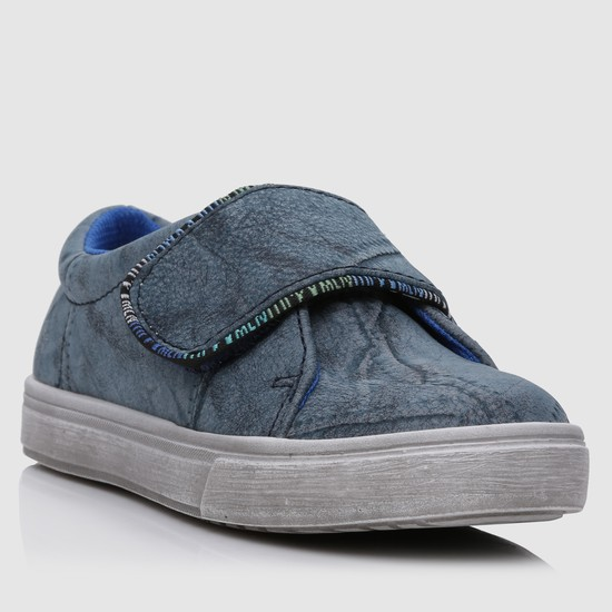 Textured Hook and Loop Strap Shoes