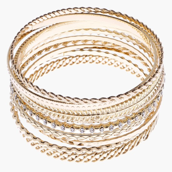 Studded Bangles - Set of 10