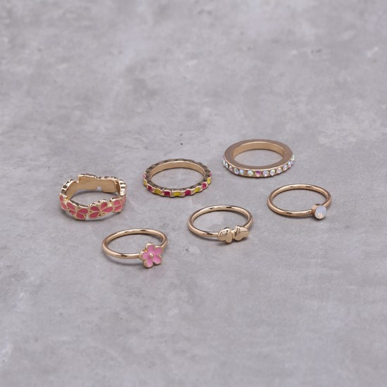 Textured Rings Set