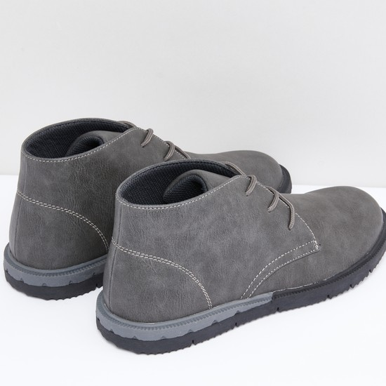 Chukka Boots with Lace-Up Closure