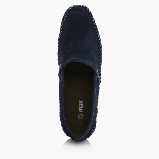 Slip-On Shoes with Stitch Detailing