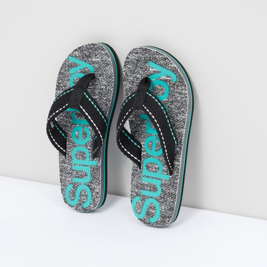 Printed Flip Flops with Broad Straps