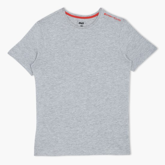 Melange T-Shirt with Short Sleeves