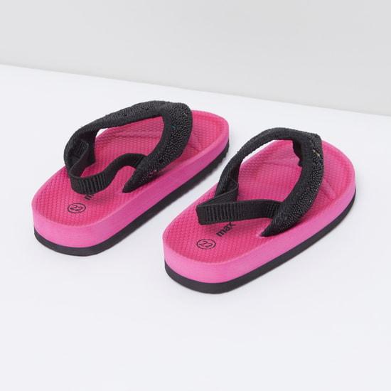 Textured Flip Flops with Back Strap