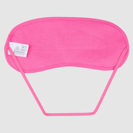Embroidered Eye Mask with Plush Detail