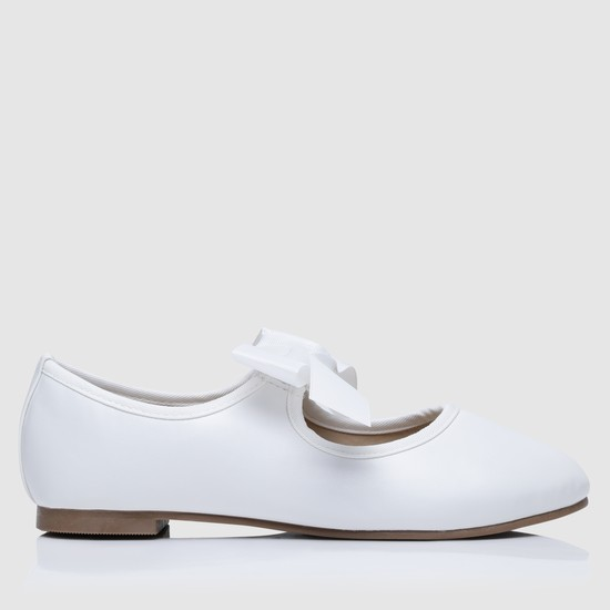 Slip-On Mary Jane Shoes with Bow on Strap