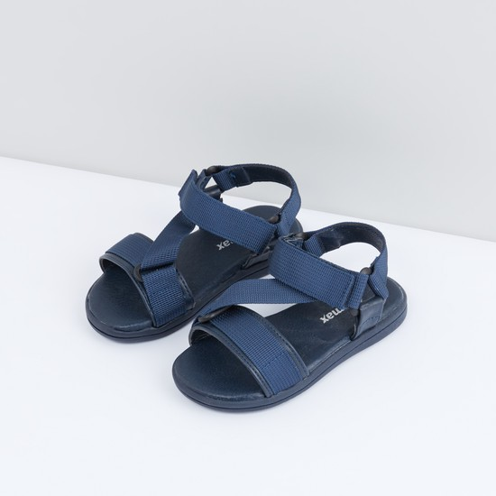 Ankle Strap Sandals with Hook and Loop Closure