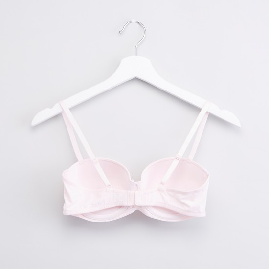 Set of 2 - Plain Balconette Bra with Hook and Eye Closure
