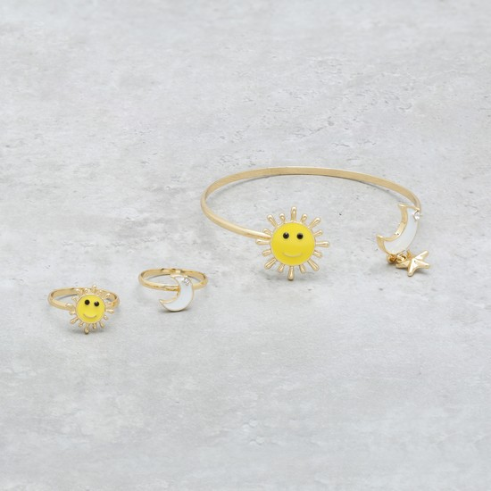 Enamelled Cuff and Ring Set