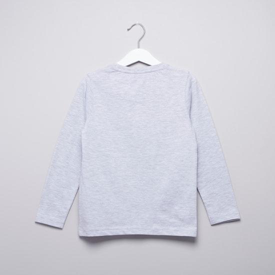 Ben10 Printed Long Sleeves T-shirt with Full Length Jog Pants