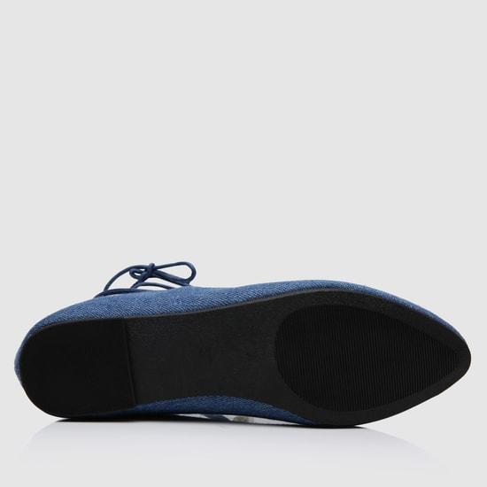 Tie-Up Ballerina Shoes