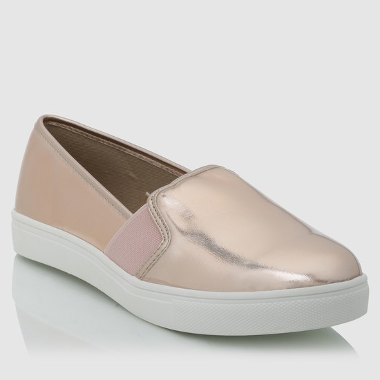 Slip-On Metallic Shoes