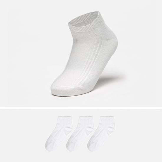 Textured School Ankle Length Socks - Set of 3