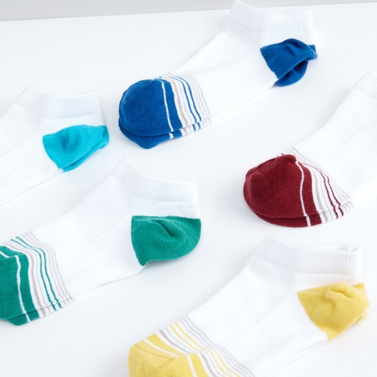 Striped Ankle Length Socks - Set of 5