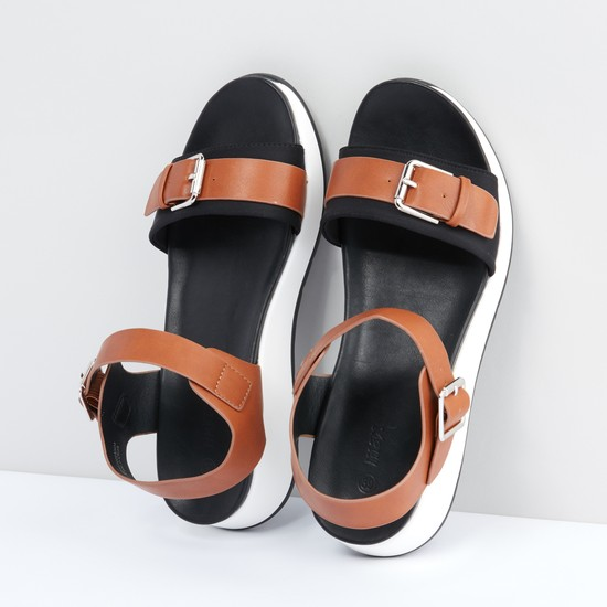 Pin Buckle Closure Sandals