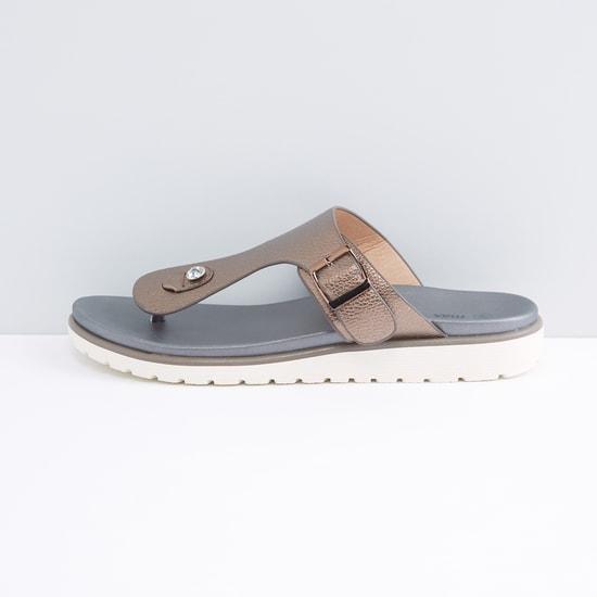 Textured Toe-Post Sandals