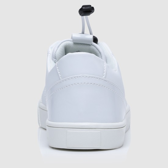 Textured Sneakers with Drawstring