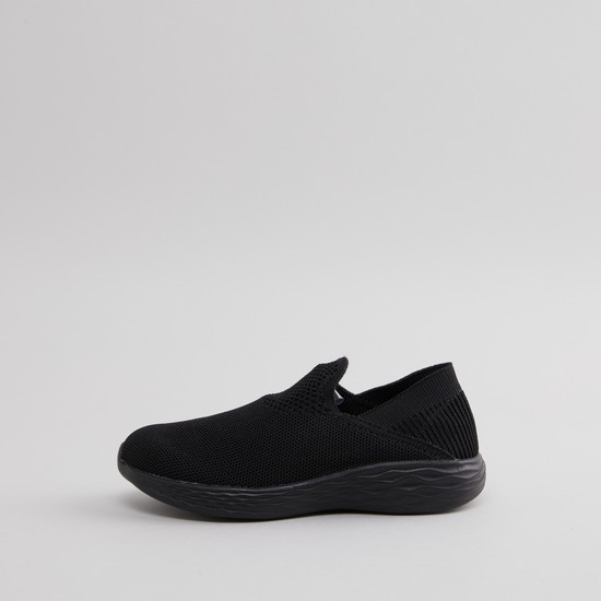 Textured Slip-on Sports Shoes
