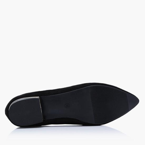 Embellished Slip-On Ballerina Pumps