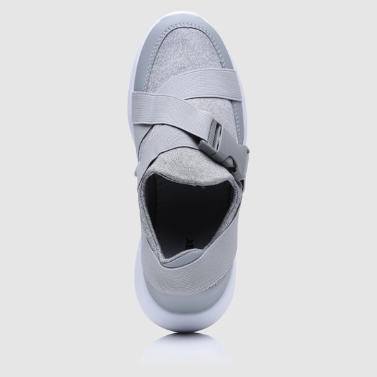Textured Sneakers with Elasticised Detailing