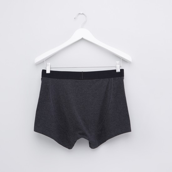 Textured Boxer Briefs with Elasticised Waistband - Set of 2
