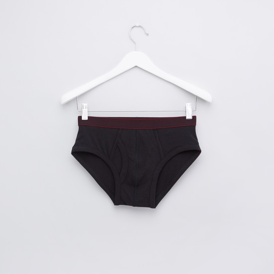Textured Briefs with Elasticised Waistband - Set of 3
