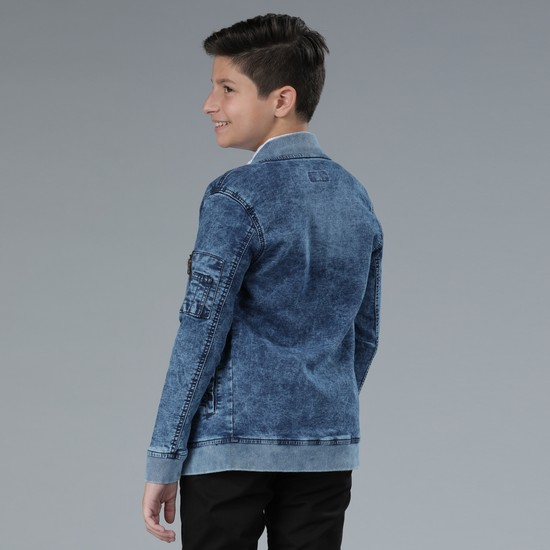Denim Jacket with Long Sleeves