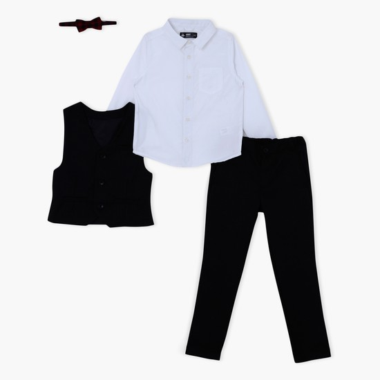 Shirt and Trouser Set with Waistcoat and Tie