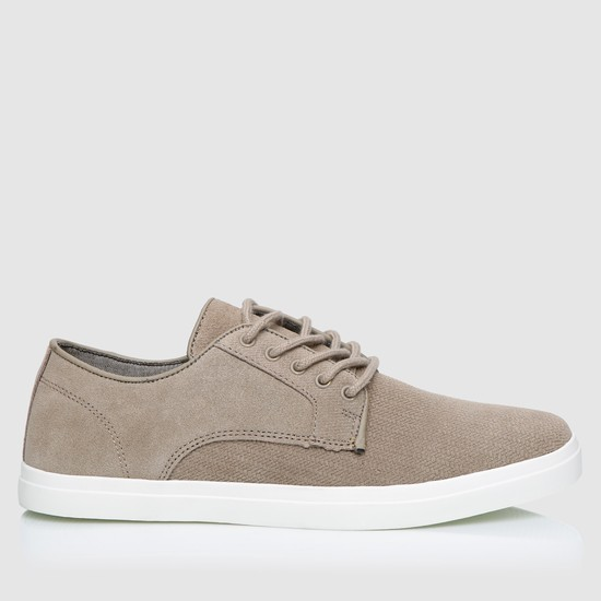 Lace-Up Textured Shoes