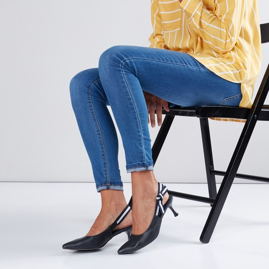 Slingback Shoes with Knot Detail