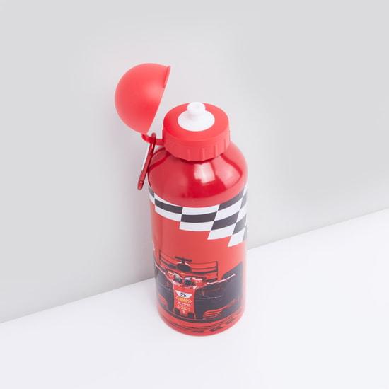 زجاجة مياه بطبعات مع غطاء