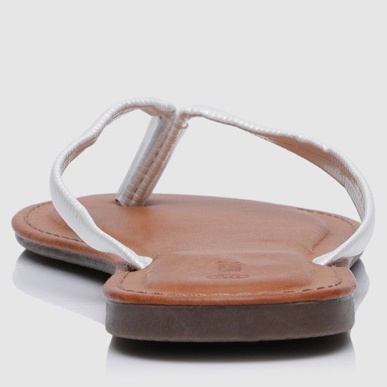 Textured Dual Tone Thong Slippers