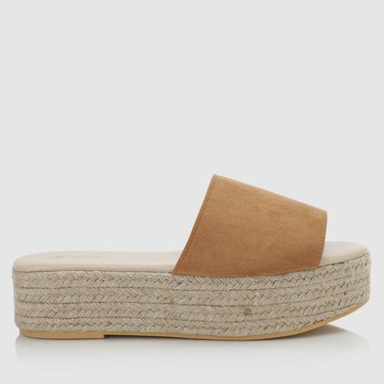 Mid-Heel Espadrille Sandals