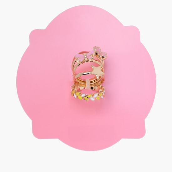 Enamelled Ring Set