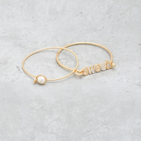 Embellished Bangle Set