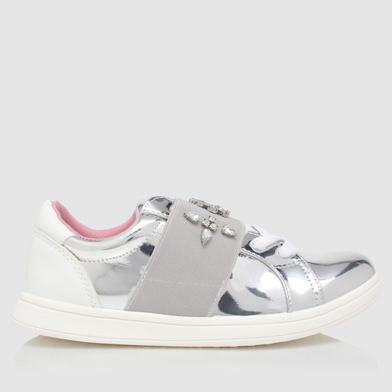 Crystal Embellished Shoes with Elasticised Detailing