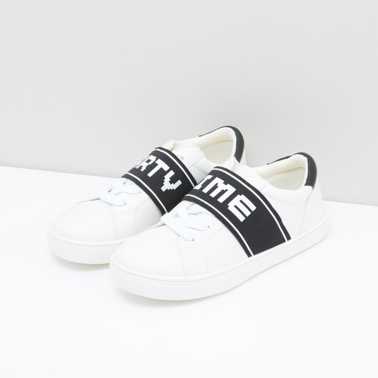 Stitch Detail Shoes with Elasticised Band