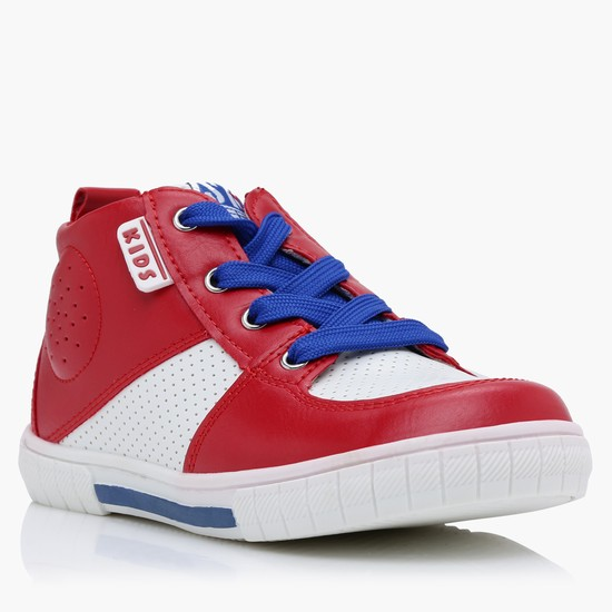 Lace-Up High Top Shoes