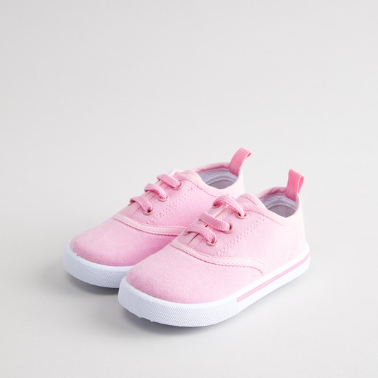 Lace-Up Shoes with Pull-tab
