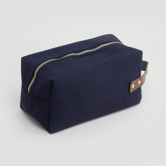 Textured Pouch with Zip Closure and Strap