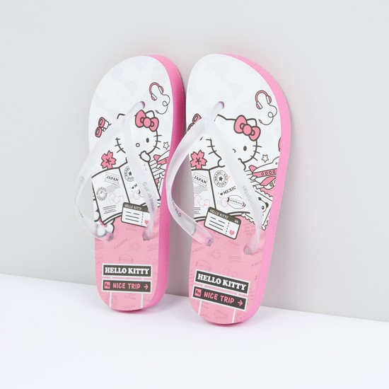 Hello Kitty Printed Flip Flops