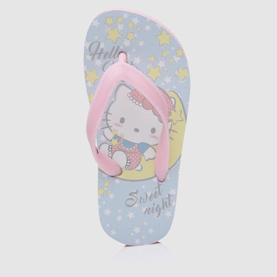 Hello Kitty Printed Slip-On Flip Flops