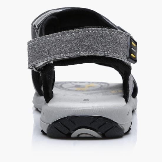 Textured Hook and Loop Closure Sandals